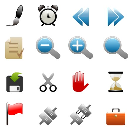 Toolbar and Interface icons Vector