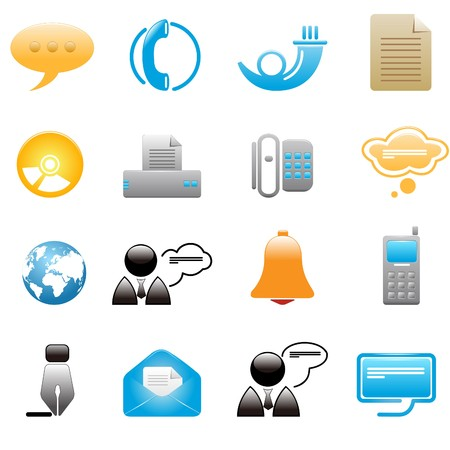 Communication icons Stock Vector - 7644374