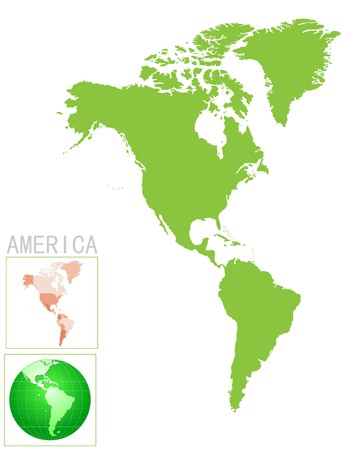 america map and icon Vector