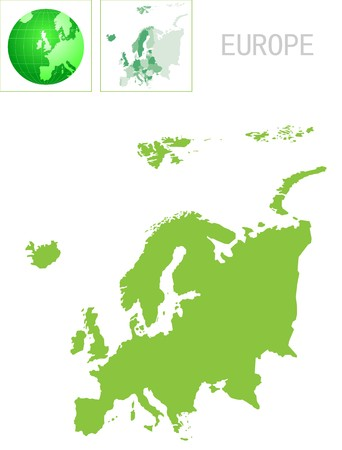 europe map and icon Vector