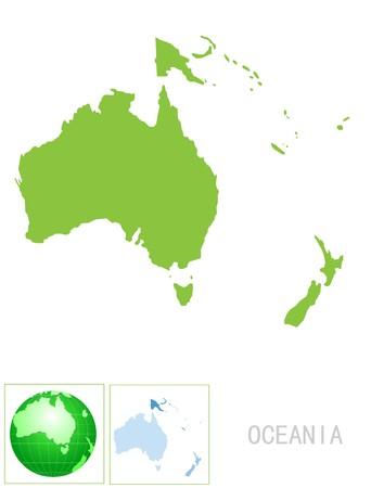 fiji: Oceanië-kaart en het pictogram