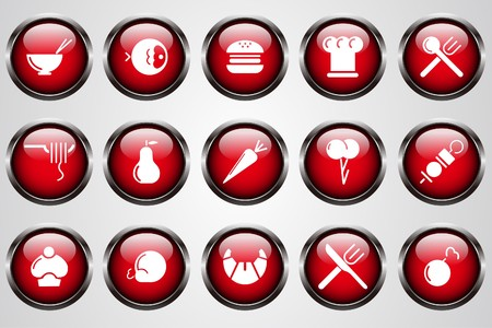 chicken burger: Food & Restaurant icons red crystal button