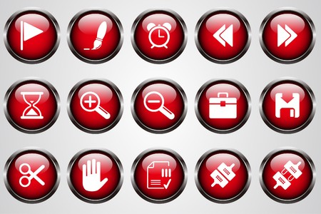 circularity: Toolbar and Interface icons red crystal button