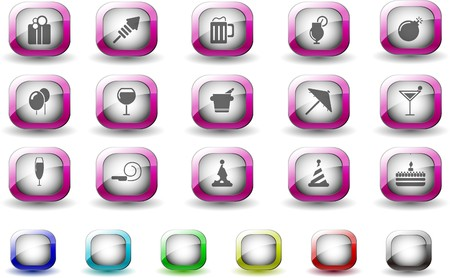 Party and Celebration icons TV Series Vector