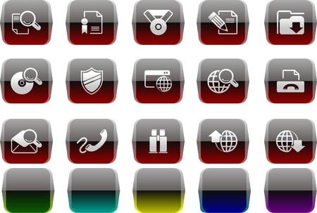 rectangluar: Internet icons Transparent metal Series