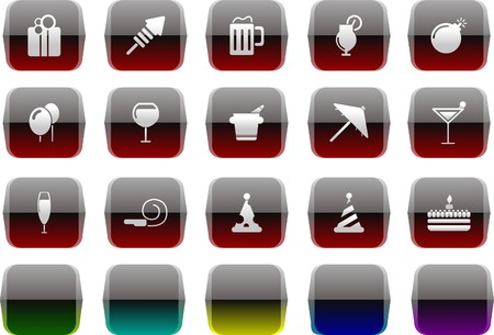 rectangluar: Party and Celebration icons Transparent metal Series Illustration