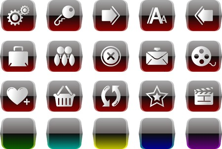 website and internet icons  Transparent metal Series Stock Vector - 7612095