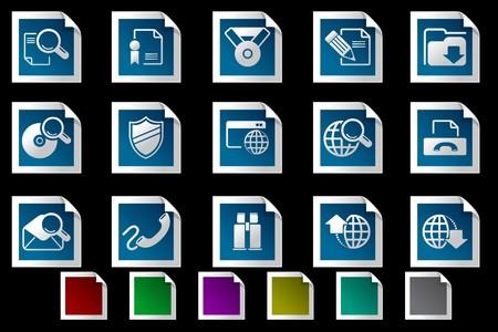 rectangluar: Internet icons Photo frame series Illustration
