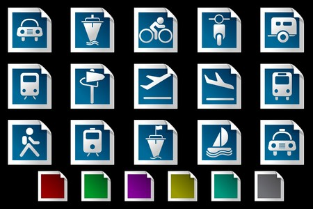 rectangluar: Transportation and Vehicle icons Photo frame series