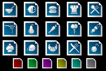 Food & Restaurant icons Photo frame series Stock Vector - 7612197