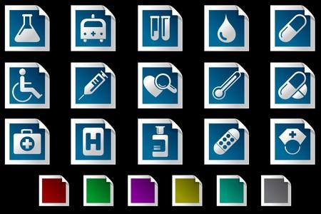 rectangluar: Healthcare and Pharma icons Photo frame series