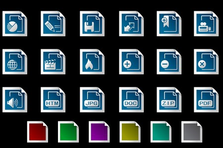 circularity: Document and File formats icons Photo frame series
