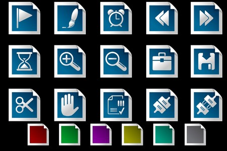 fl: Toolbar and Interface icons Photo frame series