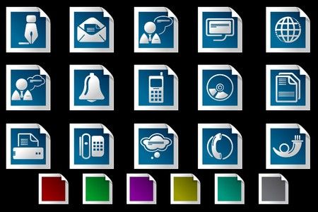 Communication icons Photo frame series Stock Vector - 7612211