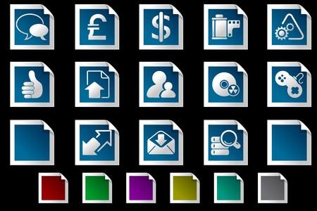 rectangluar: Internet  icons Photo frame series
