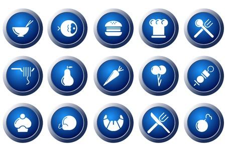 logo poisson: Ic�nes de nourriture & restaurant