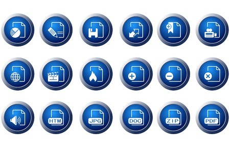 circularity: Document and File formats icons Illustration