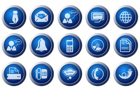Communication icons Stock Vector - 7643679