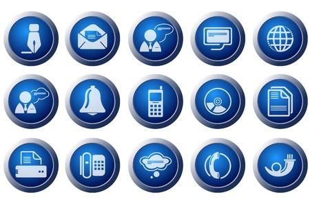 phone logo: Communication icons Illustration