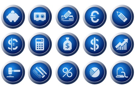 Finance and Banking icons Stock Vector - 7643675