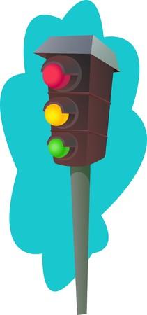 road marking: Traffic light