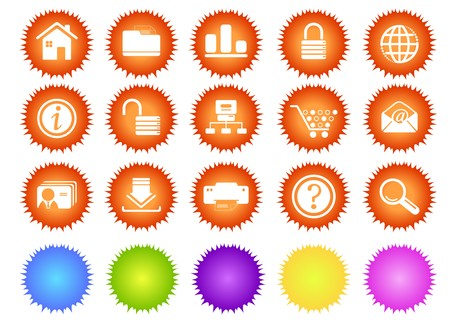 website and internet icons sun series Vector