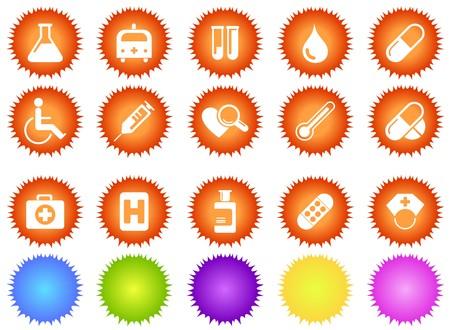 gradual: Iconos de cuidado de la salud y Pharma  Vectores