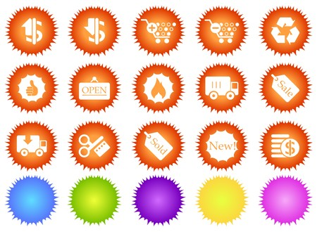 circularity: Sale and Shopping icons sun series
