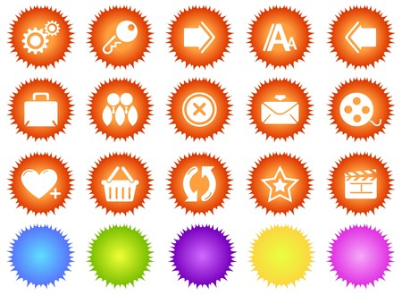 website and internet icons 2 sun series Vector