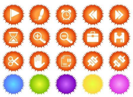 toolbar: Toolbar and Interface icons sun seires Illustration
