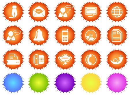 Communication icons sun series Vector