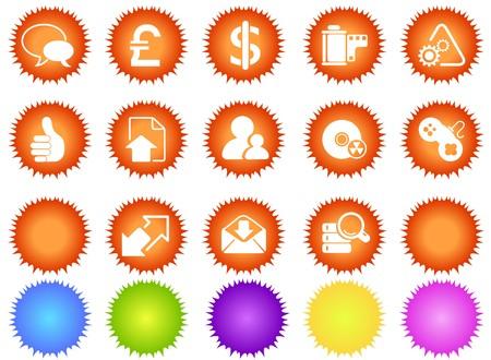 Internet icons sun series Stock Vector - 7643604