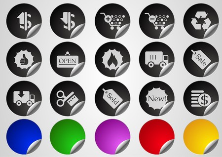 circularity: Sale and Shopping icons Label Button series