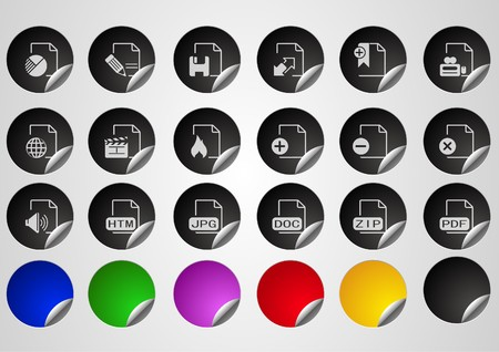 circularity: Document and File formats Label Button series