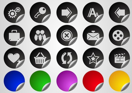 circularity: website and internet icons Label Button series on white background