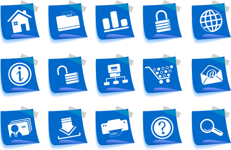 website and internet icons Label Series Stock Vector - 7746944