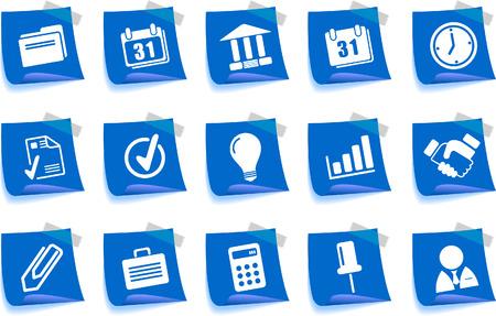 gradual: Iconos de negocio serie de etiqueta
