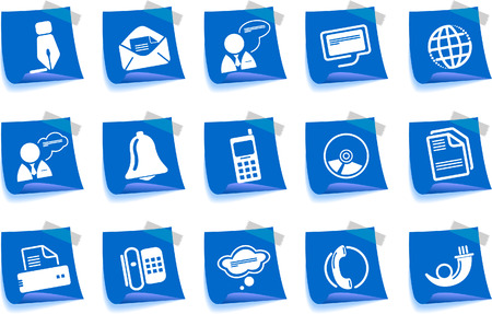 Communication icons Label Series Stock Vector - 7746977