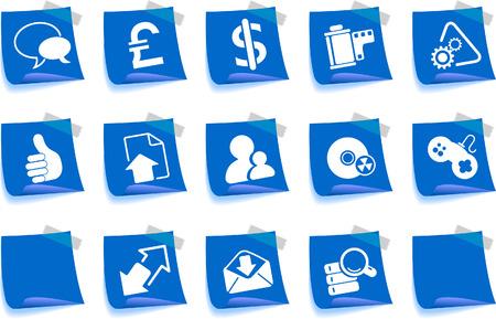 newsfeed: Internet icons Label Series Illustration