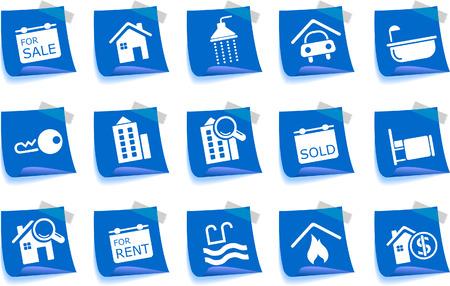Immobilier icônes Label série
