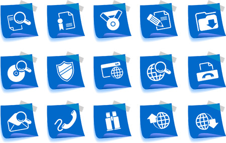 Internet icons Label Series Vector