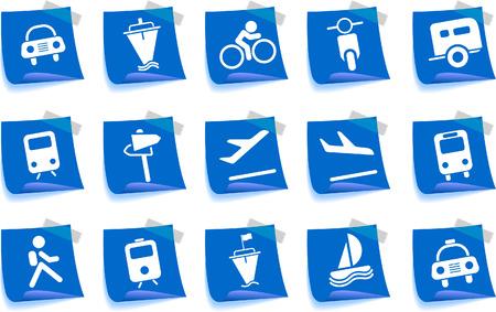 gradual: Iconos de transporte y veh�culos Label Series
