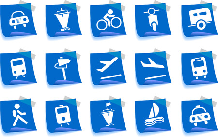 Transportation and Vehicle icons Label Series Vector