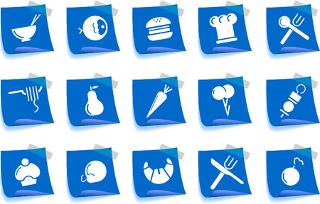 Food & Restaurant icons  Label Series Vector