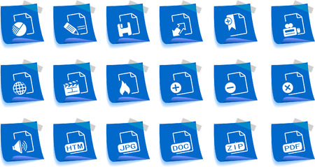 Document and File formats Label Series Stock Vector - 7746998
