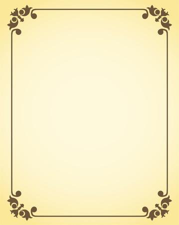 antikes papier: Dekorrahmen