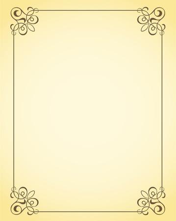 art deco frame: decorative frame