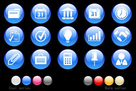 gradual: Bot�n de cristal de iconos de negocio