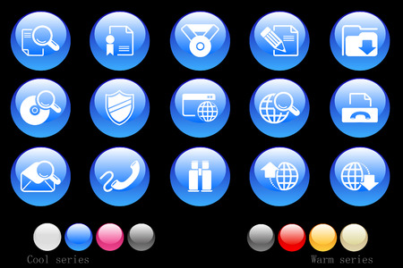 Internet icons crystal button Vector