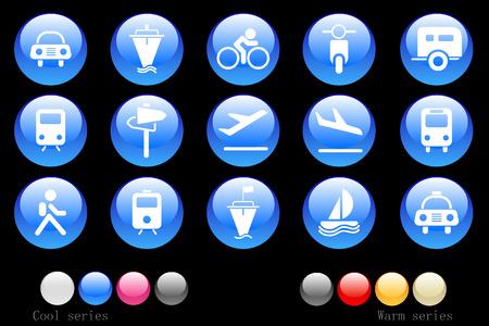mode of transport: Iconos en el sector del transporte y veh�culos Crystal Button